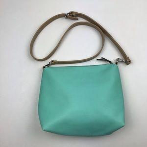 Charming Charlie Teal Tieks Blue Crossbody Bag